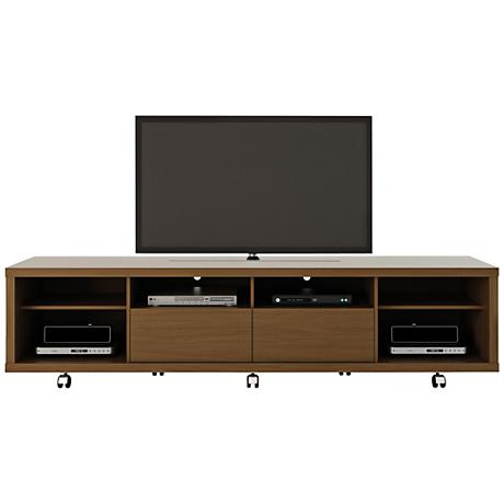 Cabrini 2.2 Nut Brown Wood 2-Drawer TV Stand