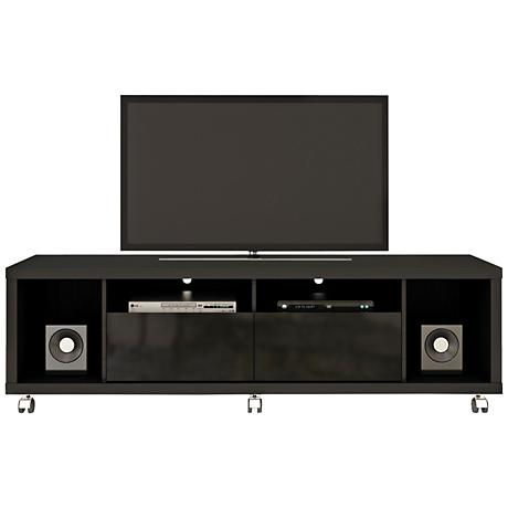 Cabrini 1.8 Black Wood 2-Drawer TV Stand