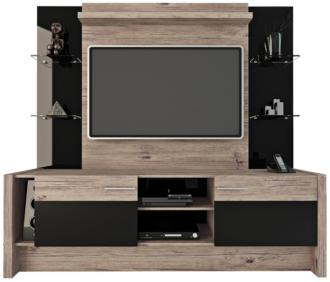 Morning Side Nature and Black 2-Door Entertainment Center (1V043) 1V043