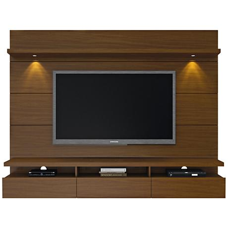 Cabrini 2.2 Nut Brown Floating Wall Entertainment Center