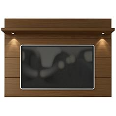 Cabrini 2.2 Nut Brown Wood Floating Wall TV Panel