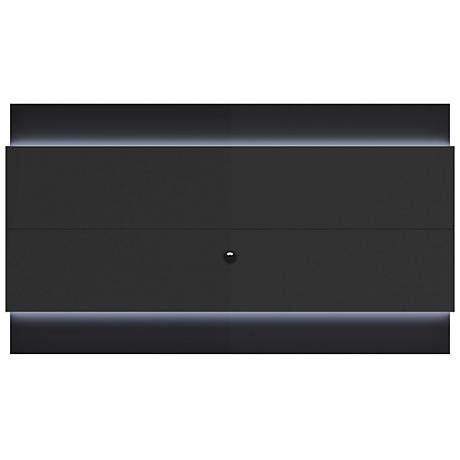 Lincoln 2.4 Black Floating Wall TV Panel with LED Lights