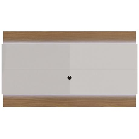 Lincoln 2.4 Off-White Floating Wall TV Panel with LED Lights