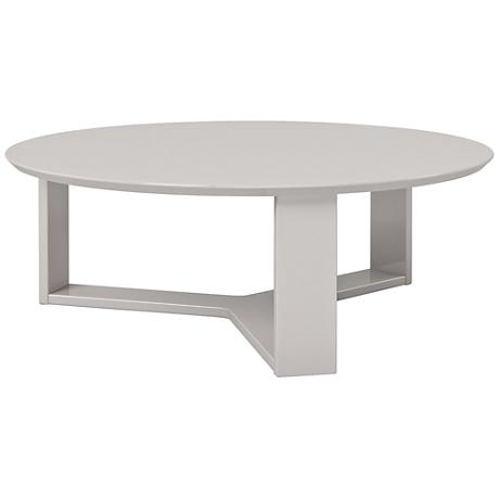 Madison 1 0 off white wood round accent coffee table for Off white round table