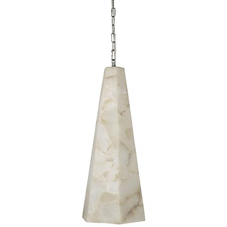 "Jamie Young Borealis 10"" Wide Alabaster Hexagon Mini Pendant"