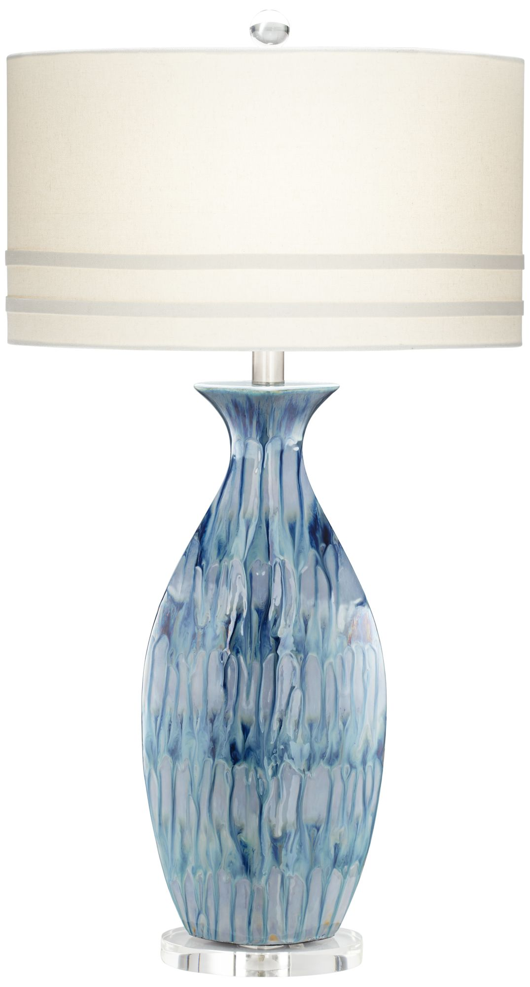 Amazing Possini Euro Annette Blue Drip Ceramic Table Lamp Design Ideas