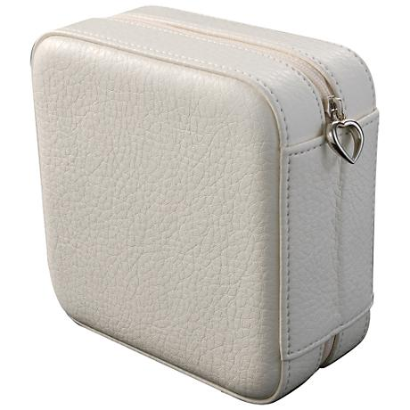 Mele & Co. Dana Ivory Faux Leather Square Jewelry Box