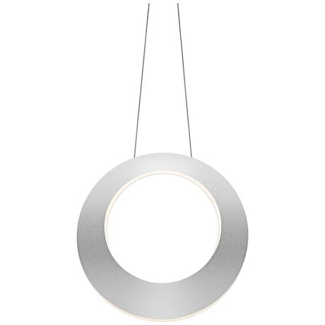 "Haro 15 3/4"" Wide Bright Satin Aluminum LED Pendant Light"