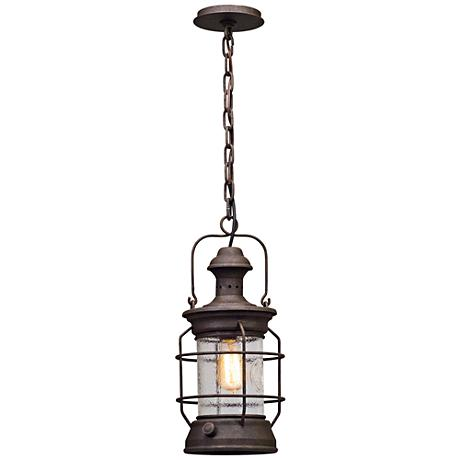 "Atkins 8"" Wide Centennial Rust Outdoor Hanging Light"