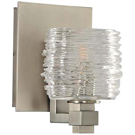 "Clearwater 5"" Wide Satin Nickel 1-Light Wall Sconce"