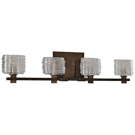 "Clearwater 29"" Wide Vintage Bronze 4-Light Bath Light"