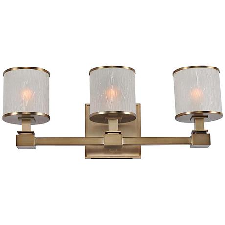 "Destin 19"" Wide Brushed Bronze 3-Light Bath Light"