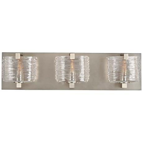 "South Bay 19"" Wide Satin Nickel 3-Light Bath Light"