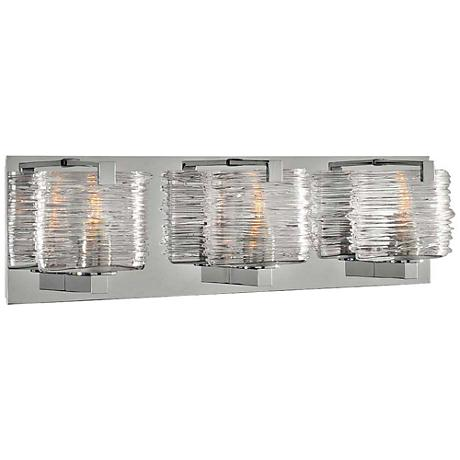 "South Bay 19"" Wide Chrome 3-Light Bath Light"