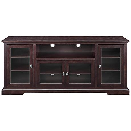 Cass Highboy Style Espresso Wood 4 Door Tv Stand__1w397 on Weight Room Safety Rules