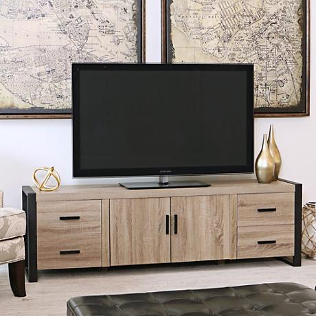 Urban Blend Driftwood 4 Drawer Tv Stand Console 1w401