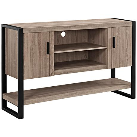 Urban Blend Driftwood Black 2-Door TV Console Table/Buffet