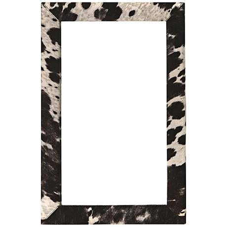 "Charlotte Gray and Black 24"" x 36"" Wall Mirror"
