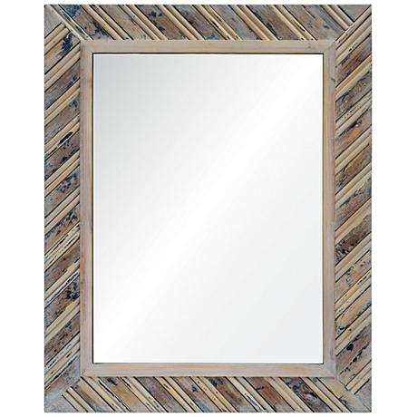 "Dilegno Natural Wood 24"" x 30"" Rectangular Wall Mirror"