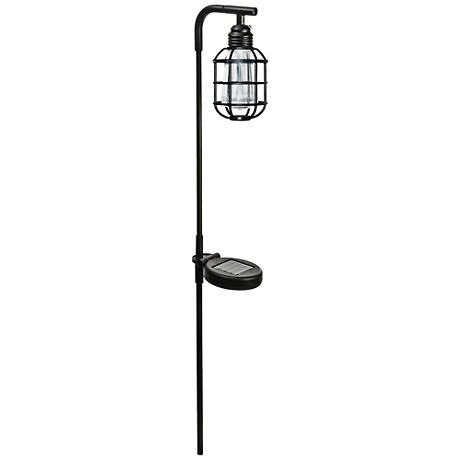 "Liam 30 1/4"" High Black Solar LED Edison Stick Light"