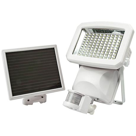 "James 13 3/4""H White Solar LED Motion Sensor Security Light"