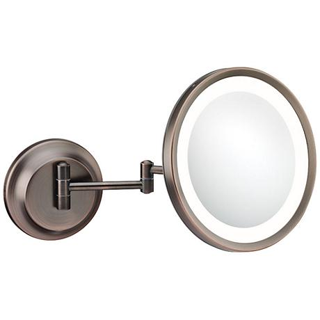 Aptations Italian Bronze LED 5X Magnifying Makeup Mirror