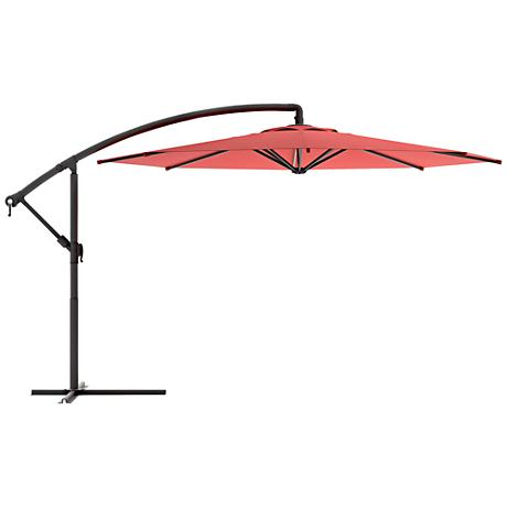 Meco 3-Meter Wine Red Fabric Offset Patio Umbrella