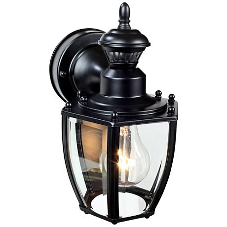 "Coach Black 10 3/4""H Motion-Sensing Outdoor Wall Light"