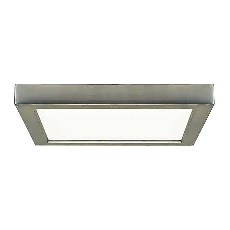 "Blink Brushed Nickel 5 3/4"" Wide Square LED Ceiling Light"