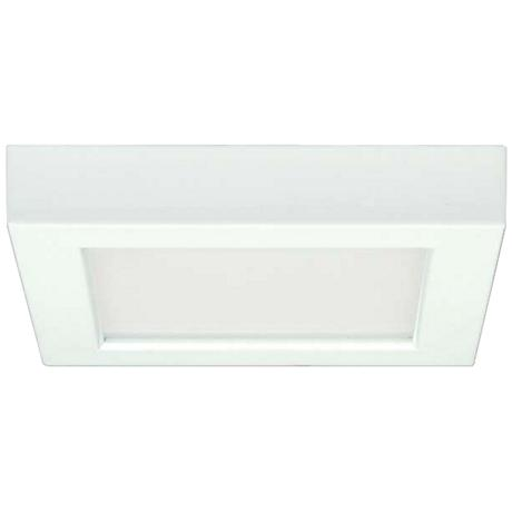 "Blink White 7"" Wide Square LED Ceiling Light"