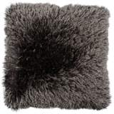 "Duran.B Gray 20"" Square Decorative Shag Pillow"