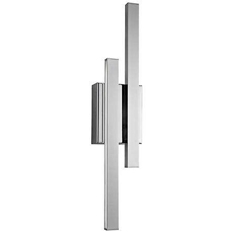 "Elan Idril Chrome 22 1/4"" High 2-Light LED Wall Sconce"