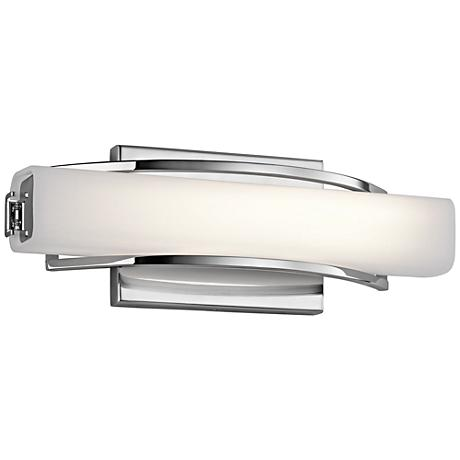 "Elan Rowan Chrome 13 1/4"" Wide LED Small Bath Light"