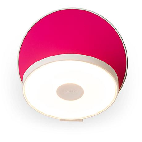"Koncept Gravy 5"" High Matte Hot Pink LED Wall Sconce"