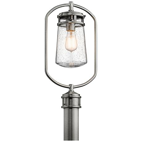 "Kichler Lyndon 20""H Brushed Aluminum Outdoor Post Light"