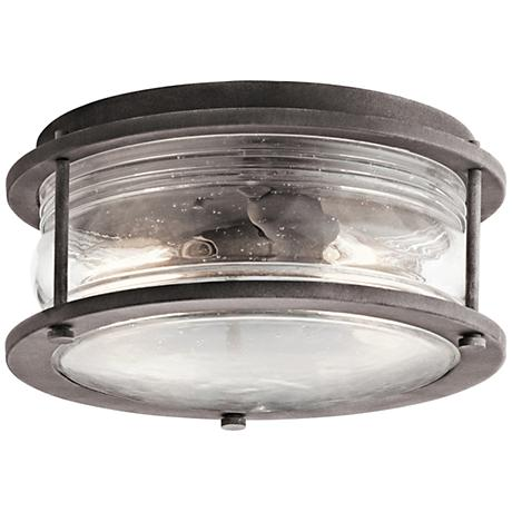"Kichler Ashland Bay 12"" Wide Zinc Outdoor Ceiling Light"