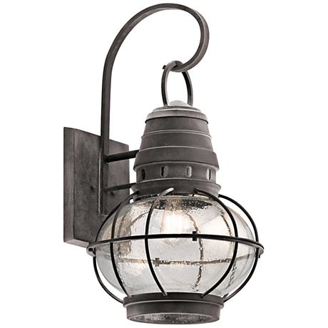 "Kichler Bridge Point 26 1/4"" High Zinc Outdoor Wall Light"