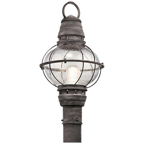 "Kichler Bridge Point 21 1/4"" High Zinc Outdoor Post Light"