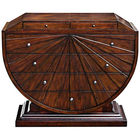 Uttermost Herrold Dark Walnut Mango 6-Drawer Accent Chest