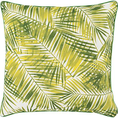 "Surya Ulani Palm Fronds 16"" Square Decorative Pillow"
