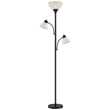 Bingham Black Tree Torchiere 3 Light Floor Lamp 1y323