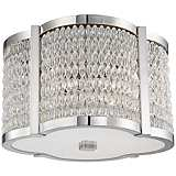 "Hudson Valley Ballston 16""W Polished Nickel Ceiling Light"