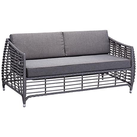 Zuo Wreak Beach Gray Outdoor Sofa