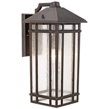 "J du J Sierra Craftsman 16 1/2"" High Outdoor Light"