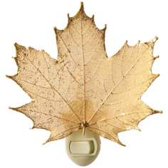 Antique Gold Real Leaf Sugar Maple Night Light