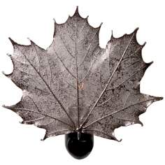 Antique Silver Real Leaf Sugar Maple Night Light