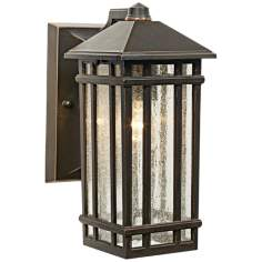 "J du J Sierra Craftsman 10"" High Outdoor Wall Light"