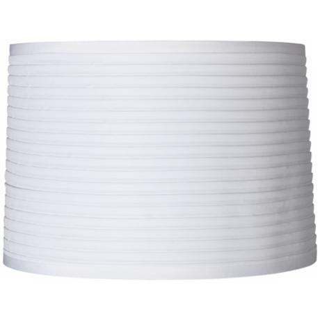 White Horizontal Pleat Lamp Shade 15x16x11 (Spider)