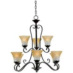 Duchess Two Tier Nine Uplight Chandelier
