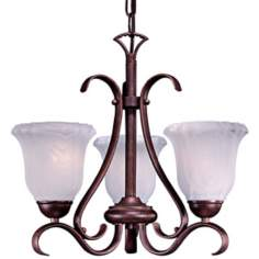 Marchalbo Bronze Energy Efficient Three Light Mini Chandelier